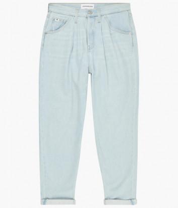 Джинсы багги CALVIN KLEIN Jeans J20J216482 высокой посадки голубые