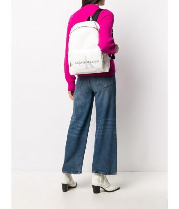 Рюкзак CALVIN KLEIN Jeans K60K607201 с внешним карманом белый