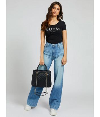 Стеганная сумка GUESS Illy Society HWVG7970060 черная