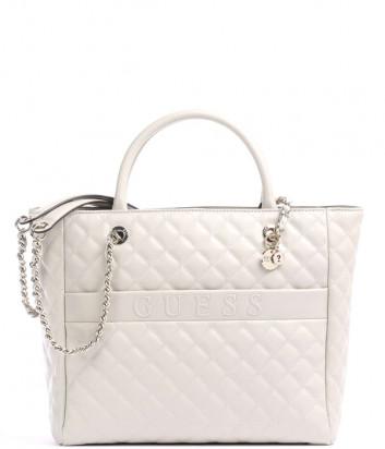 Стеганная сумка GUESS Illy Elite HWVG7970230 кремовая