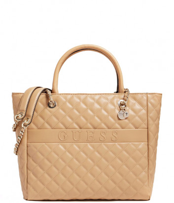 Стеганная сумка GUESS Illy Elite HWVG7970230 бежевая