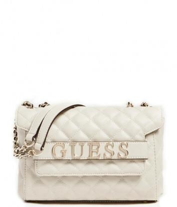 Стеганная сумка GUESS Illy Convertibe HWVG7970210 кремовая
