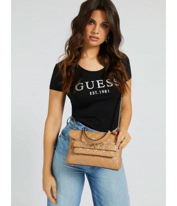 Стеганная сумка GUESS Illy Convertibe HWVG7970210 бежевая