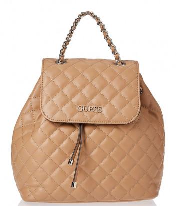 Стеганный рюкзак GUESS Illy HWVG7970320 бежевый