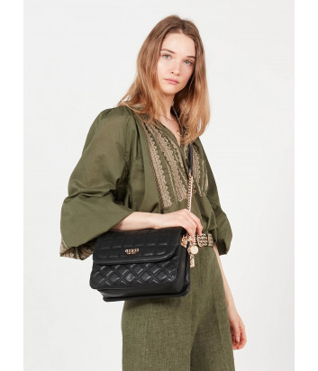 Стеганная сумка GUESS Kamina HWVS8111200 черная