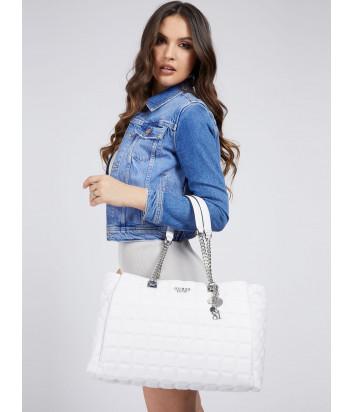 Стеганная сумка GUESS Kamina HWVY8111230 белая