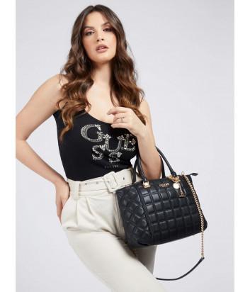 Стеганная сумка GUESS Kamina HWVS8111060 черная
