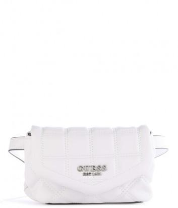 Стеганная сумка GUESS Kamina HWVY8111810 поясная или через плечо белая