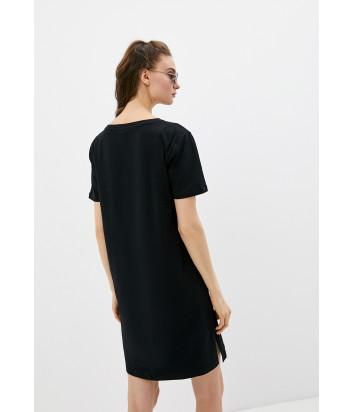 Платье MOSCHINO A1909 2125 черное с золотым логотипом