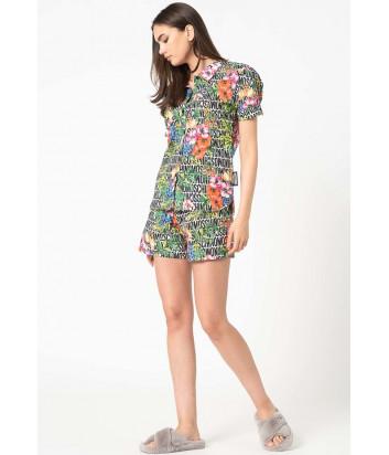Комплект MOSCHINO A5003 9026 рубашка и шорты яркий принт