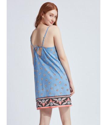 Сорочка GISELA 31781 голубая с принтом