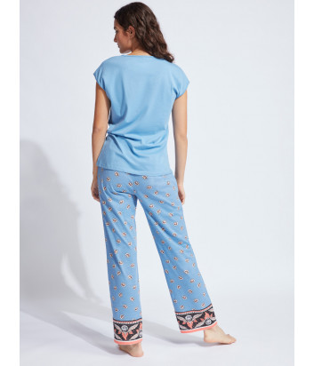 Домашний комплект-пижама GISELA 31780 голубой с принтом