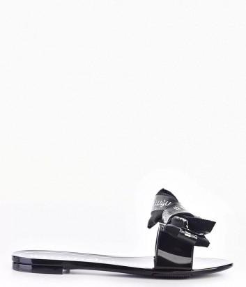 Силиконовые шлепанцы MENGHI 150E с бантиком черные