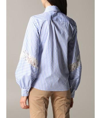 Рубашка LIU JO WA0236T4169 в бело-голубую полоску