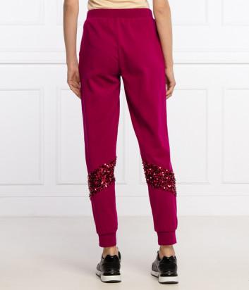 Спортивные брюки LIU JO TA1055 J6144 фиолетовые с пайетками