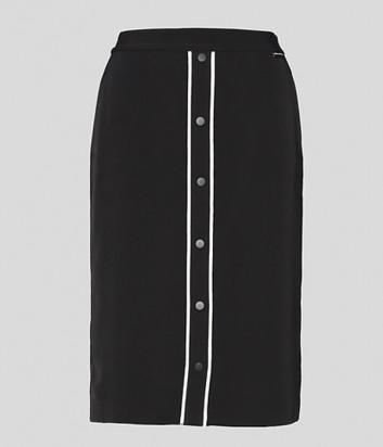 Юбка KARL LAGERFELD 215W1207 прямого кроя черная