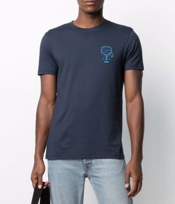 Мужская футболка KARL LAGERFELD Ikonik 215M1702 синяя