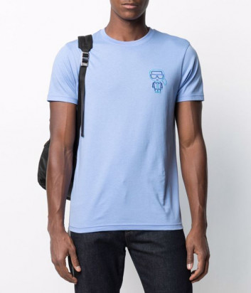 Мужская футболка KARL LAGERFELD Ikonik 215M1702 голубая