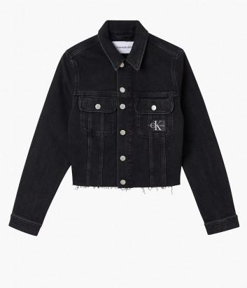 Укороченная джинсовая куртка CALVIN KLEIN Jeans J20J216492 черная