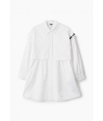 Платье-рубашка KARL LAGERFELD Kids Z12179 белое