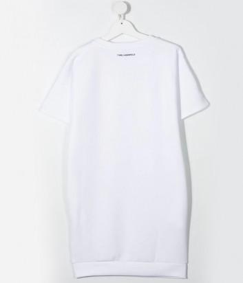 Платье-футболка KARL LAGERFELD Kids Z12182 белое в полоску