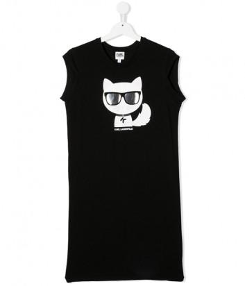 Платье KARL LAGERFELD Kids Choupette Z12172 черное