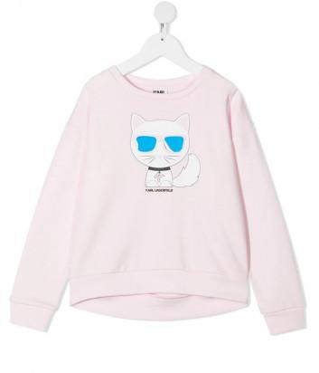 Свитшот KARL LAGERFELD Kids Choupette Z15313 нежно-розовый