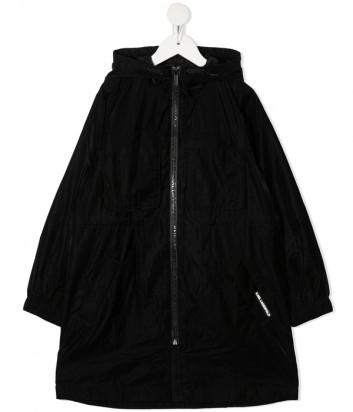 Удлиненная ветровка KARL LAGERFELD Kids Z16108 с капюшоном черная