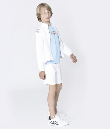 Спортивные шорты KARL LAGERFELD Kids Z24115 белые с логотипом