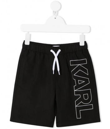 Шорты для плавания KARL LAGERFELD Kids Z20055 черные с логотипом