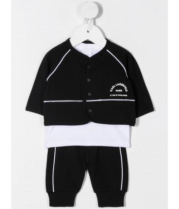 Костюм для девочки KARL LAGERFELD Kids Z98082 кардиган, футболка, брюки