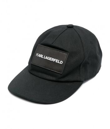 Хлопковая бейсболка KARL LAGERFELD Kids Z21020 черная