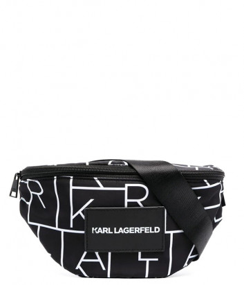 Поясная сумка KARL LAGERFELD Kids Z20057 черная с принтом