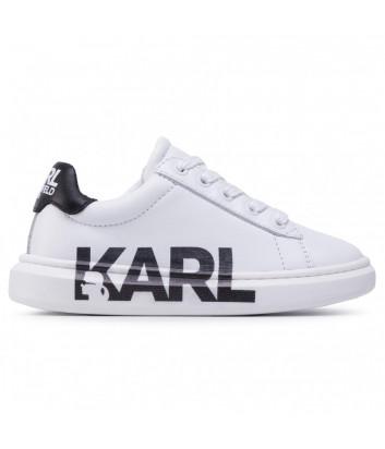 Кожаные кроссовки KARL LAGERFELD Kids Z29M31 белые