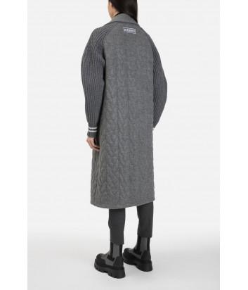 Пальто ICEBERG N0515372 с вязаными рукавами серое