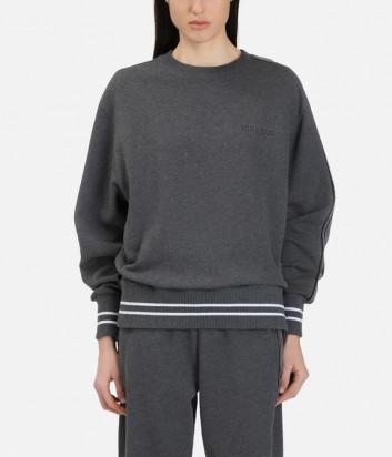 Серый свитшот ICEBERG E0116300 с пайетками на рукаве