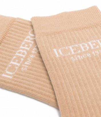 Бежевые носочки ICEBERG 63006924 с логотипом