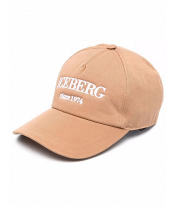 Бейсболка ICEBERG 71036920 бежевая с вышитым логотипом
