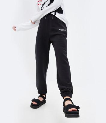 Спортивные брюки ICEBERG B0416306 с вышитым Mickey Mouse черные