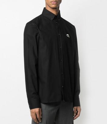 Рубашка KARL LAGERFELD Ikonik 210M1601 черная