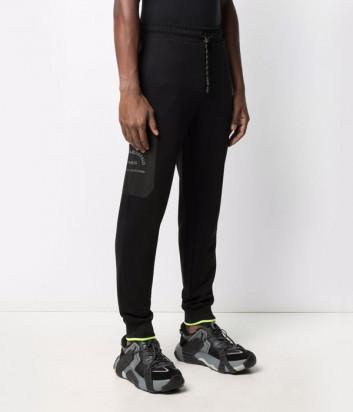 Спортивные брюки KARL LAGERFELD 215M1050 черные с логотипом