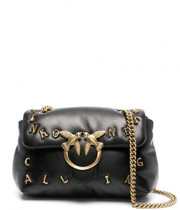 Кожаная сумка PINKO Mini Love Bag Puff Pinkoness Calling 1P2257 черная
