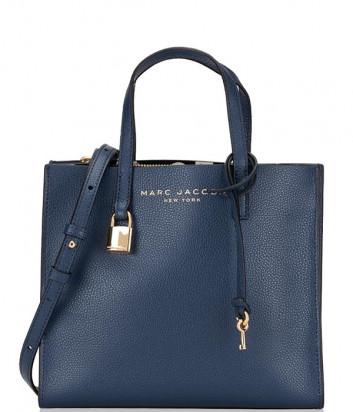 Кожаная сумка MARC JACOBS Grind Tote Mini M0015685 темно-синяя