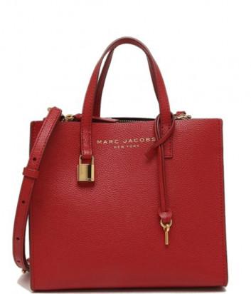 Кожаная сумка MARC JACOBS Grind Tote Mini M0015685 красная