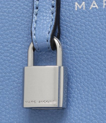 Кожаная сумка MARC JACOBS Grind Tote Mini M0015685 голубая