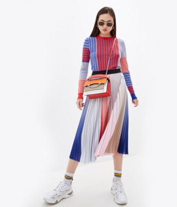 Трикотажный костюм KARL LAGERFELD 211W2002/1200 джемпер и юбка в полоску