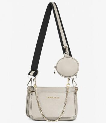 Комплект из двух кожаных сумочек DI GREGORIO 8784 на плечо серого цвета