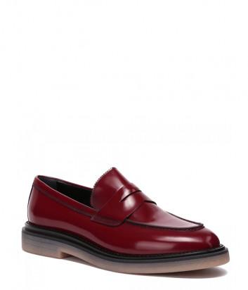 Кожаные туфли ATTILIO GIUSTI LEOMBRUNI (AGL) 721058 бордовые