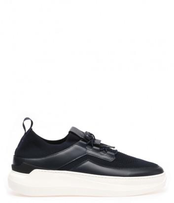 Кроссовки BALDININI 197438 с текстильными вставками черные