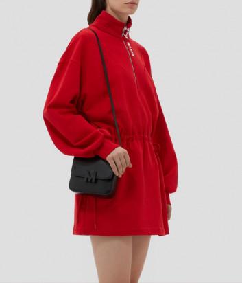 Мини-платье MSGM 3141MDA69 из джерси с молнией красное